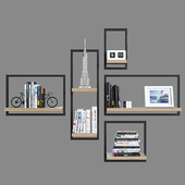 Shelves with decor 2.