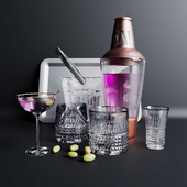 Barware crystal set01
