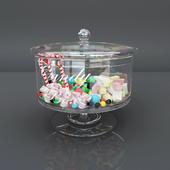 Glass candy box