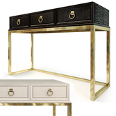 Cosmopolitan Ebony / Parchment Console. ART Furniture