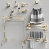 Set of accessories for the bathroom Berkley Gold Gaiamobili