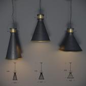 Set of 3 ceiling lights