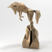 Бронзовая статуэтка лисы