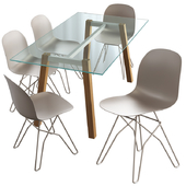 Connubia Calligaris Academy chair and T table