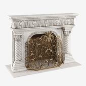 Caesar Mantel & Acanthus Fireplace Screen