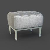 OM Poof Fratelli Barri RIMINI in fabric silver-gray velor, legs in silver finish (AL), FB.ST.RIM.239