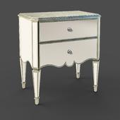 OM Bedside table Fratelli Barri RIMINI in silver coating and mirror finish, FB.BST.RIM.219
