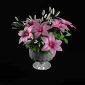 pink lilium flower