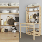 Folding table-rack IVAR IKEA