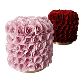 Roses pouf