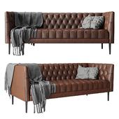 Joybird vaughn leather sofa