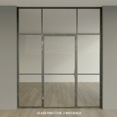 Glass partition. Door.9