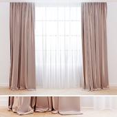 Curtains silk