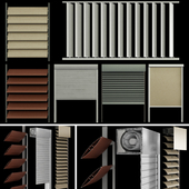 Blinds and shutters for windows and doors