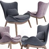 Calligaris lazy wood armchair