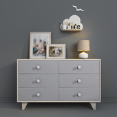 Children's furniture Ellipse, Line collection with decor.