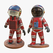 Astronaut Toy PBR 3D Model