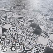 Realonda Antique/Black/Diagonal/Patchwork/Provenzal/Triangle/White