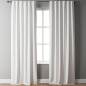 Belgian Flax Linen Curtain White Pottery Barn