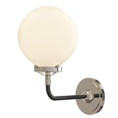 Bistro Globe Clear Glass Single Sconce Nickel Milk