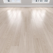 Parquet Oak cream, 3 types: herringbone, linear, chevron.