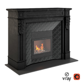 Fireplace in black
