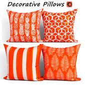 Decorative Pillow set 283 Etsy Orange