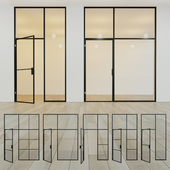 Glass partition. A door. eleven