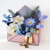 """Decor """"envelope with flowers"""""""