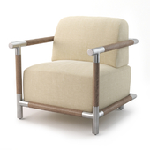 Crate and Barrel Alessia Wood and Metal Chair