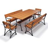 Royal Garden set bench + tables