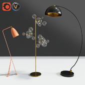 Modern Floor Lamps Set 01