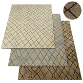 Sketched Diamond Rug RH Collection