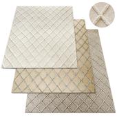 Diamante Flatweave Linen Rug RH Collection