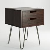 Vintage Mid Century Style Industrial Side Table