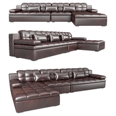 PARLAK 330 leather corner sofa