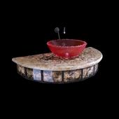 Washstand marble sink