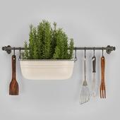 Kitchen-object-set-on-wall