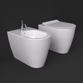Scarabeo Moon collection wc and bidet standing 5522 and 5523