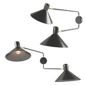 Ogilvy Double Swing Arm Wall Light