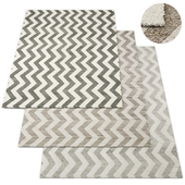 Pointe Flatweave Rug RH Collection