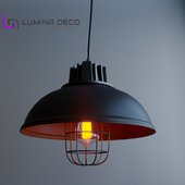 """OM"" Pendant lamp Lumina Deco LDP 6859 black"