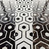 Мраморная плитка гексагон и декор от New Ravenna mosaics