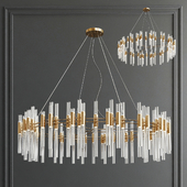 Waterfall Round Suspension Chandelier