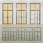 Glass partition. A door. sixteen
