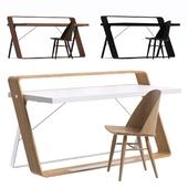 Стол Watts Desk и стул Synnes Dining Chair