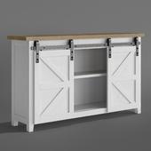 Wardrobe Cabinet in the living room Smart Standard Loft Sliding Barn Door with 5FT granary doors