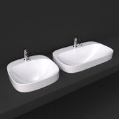Scarabeo moon washbasin 42x42 and 72x42 5511 and 5512