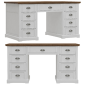 Dantone Home Coventry writing desk with white drawers