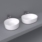 Inspira by Roca over counter wash basin 50x37 and 37x37 round